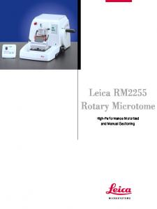 Leica RM2255 Rotary Microtome - Research Programs & Labs