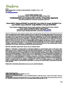 Leishmanicidal and trypanocidal activity of ... - BLACPMA - Usach