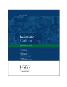 Leisure and Culture - Saskatchewan Parks and Recreation ...
