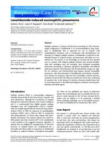 Lenalidomide Induced Eosinophilic Pneumonia ... - Wiley Online Library