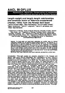 Length-weight and length-length relationships and condition ... - Bioflux