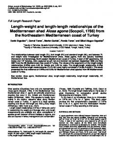 Length-weight and length-length relationships of the Mediterranean ...