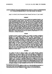 length-weight relantionships and length-length conversions of ... - Iccat