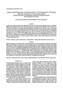 Length-weight Relationship and Condition Factor of Fish ... - UKM
