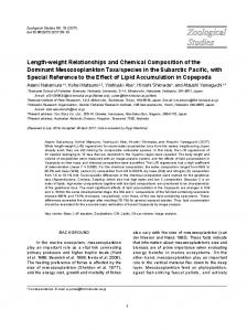 Length-weight Relationships and Chemical ... - Zoological Studies