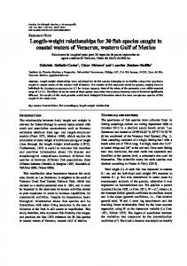 Length-weight relationships for 30 fish species caught in ... - SciELO