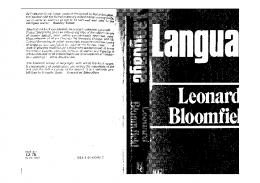 Leonard Bloomfield - Language And Linguistics.djvu