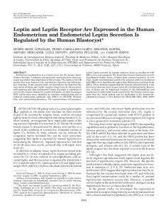 Leptin and Leptin Receptor Are Expressed in the ... - Semantic Scholar
