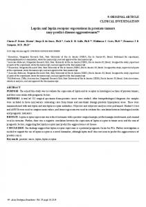 Leptin and leptin receptor expressions in prostate tumors ... - SciELO
