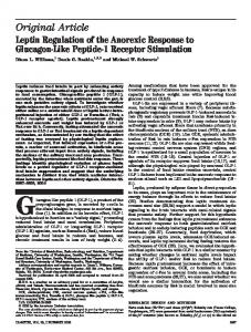 Leptin Regulation of the Anorexic Response to Glucagon-Like Peptide ...