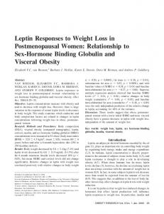 Leptin Responses to Weight Loss in ... - Wiley Online Library