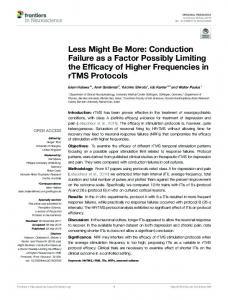 Less Might Be More: Conduction Failure as a Factor ... - Frontiers