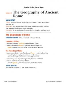 Lesson 1 The Geography of Ancient Rome