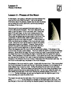 Lesson 2 Lesson 2 - Phases of the Moon