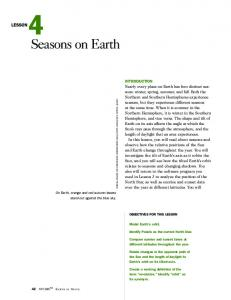 Lesson 4: Seasons on Earth - Carolina Curriculum