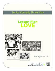 Lesson Plan - Special Olympics