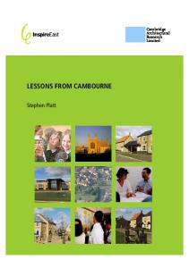 lessons from cambourne - Cambridge Architectural Research