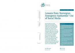 Lessons from Norwegian Emergency Authorities' Use of Social Media