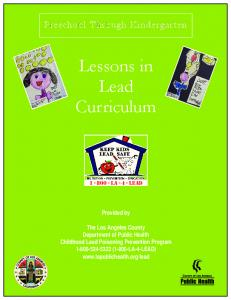 Lessons in Lead Curriculum - Department of Public Health - Los ...
