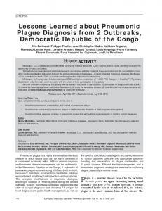 Lessons Learned about Pneumonic Plague Diagnosis from 2 ...