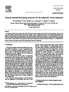 Lessons learned developing protocols for the ... - Semantic Scholar