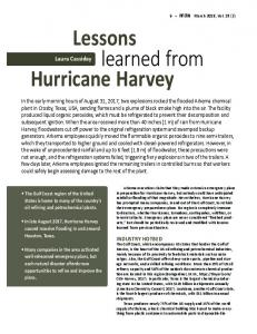 Lessons learned from Hurricane Harvey