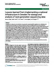 Lessons learned from implementing a national infrastructure in ... - DiVA