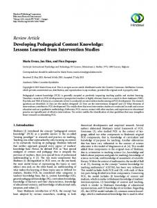 Lessons Learned from Intervention Studies
