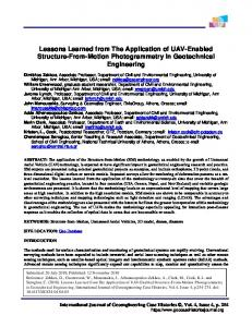 Lessons Learned from The Application of UAV