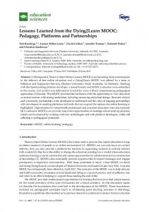 Lessons Learned from the Dying2Learn MOOC: Pedagogy ... - MDPI