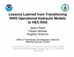 Lessons Learned from Transitioning NWS Operational Hydraulic ...