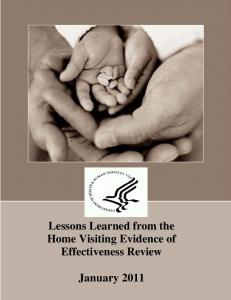 Lessons Learned - Home Visiting Evidence of Effectiveness - HHS.gov