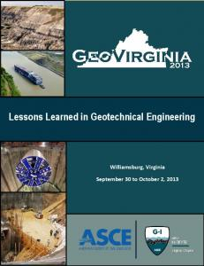 Lessons Learned in Geotechnical Engineering