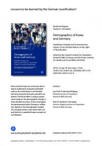 Lessons to be learned by the German reunification? Demographics of ...