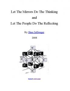 Let The Mirrors Do The Thinking and Let The People ...