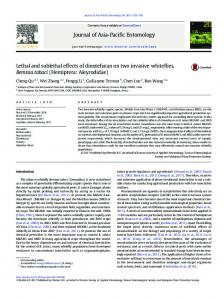 Lethal and sublethal effects of dinotefuran on two