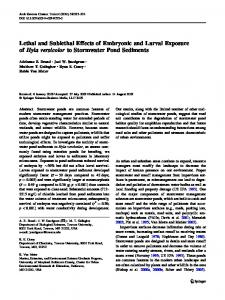 Lethal and Sublethal Effects of Embryonic and Larval ... - Springer Link