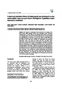 Lethal and sublethal effects of imidacloprid and pirimicarb on the ...