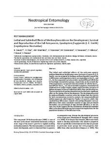 Lethal and Sublethal Effects of Methoxyfenozide on the Development ...