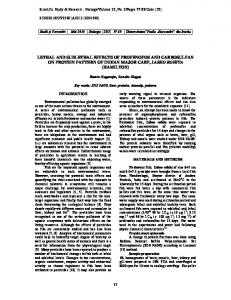 lethal and sublethal effects of profenofos and ...