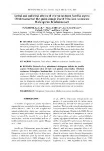 Lethal and sublethal effects of triterpenes from ... - SciELO Argentina