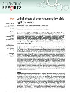 Lethal effects of short-wavelength visible light on ... - Semantic Scholar