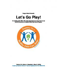 Let's Go Play! - Oregon State University Extension Service