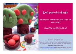Let's play with dough! - NurtureStore