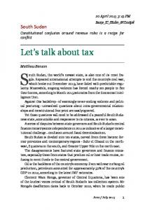 Let's talk about tax