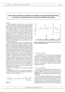 Letter: Determination of double bond position in di ... - SAGE Journals