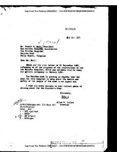 LETTER TO MR. DONALD E. BALL FROM ALLEN W ... - CIA FOIA