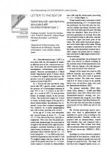 LETTER TO THE EDITOR Spinal tanycytic ependymoma associated ...