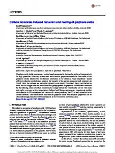 LETTERS Carbon monoxide-induced reduction and