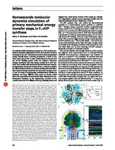 letters Nanoseconds molecular dynamics simulation of primary ...